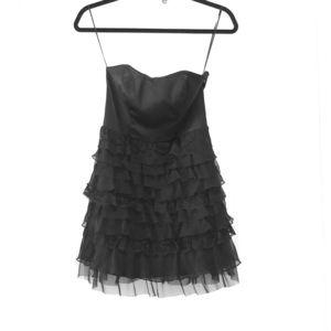 Express strapless, lace layered dress